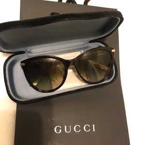 Gucci Bamboo Temple Sunglasses. Made in Italy.